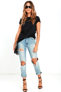 In the Raw Distressed Washed Black Tee 2