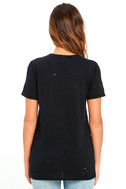 In the Raw Distressed Washed Black Tee 4