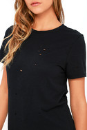 In the Raw Distressed Washed Black Tee 5