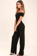 Alleyoop Black Off-the-Shoulder Jumpsuit 2