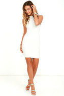Endlessly Alluring White Lace Bodycon Dress 2