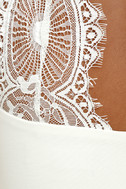 Endlessly Alluring White Lace Bodycon Dress 6