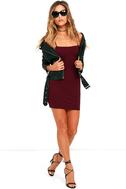 Flaunt It Burgundy Bodycon Dress 2