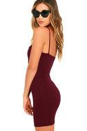 Flaunt It Burgundy Bodycon Dress 3