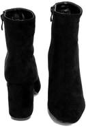 My Generation Black Suede High Heel Mid-Calf Boots 3