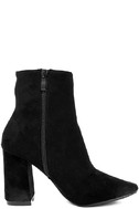 My Generation Black Suede High Heel Mid-Calf Boots 4
