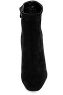 My Generation Black Suede High Heel Mid-Calf Boots 5