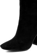 My Generation Black Suede High Heel Mid-Calf Boots 6