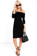 Too Good Black Off-the-Shoulder Sweater Dress 2