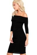 Too Good Black Off-the-Shoulder Sweater Dress 3
