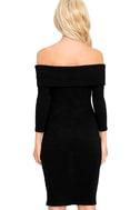 Too Good Black Off-the-Shoulder Sweater Dress 4