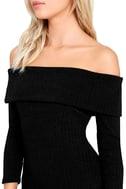 Too Good Black Off-the-Shoulder Sweater Dress 5