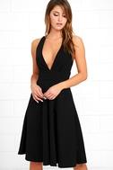 Finesse Black Midi Dress 1