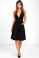 Finesse Black Midi Dress 2