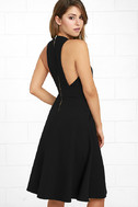 Finesse Black Midi Dress 3