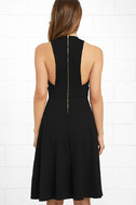 Finesse Black Midi Dress 4