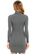 Phenomenal Feeling Grey Long Sleeve Bodycon Dress 4
