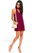 Groove Thing Magenta Swing Dress 2