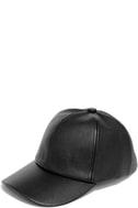 Perfect Weekend Black Vegan Leather Baseball Cap 4
