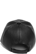 Perfect Weekend Black Vegan Leather Baseball Cap 5