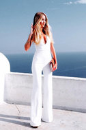 Thinking Out Loud White Backless Jumpsuit 7