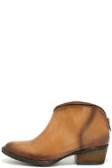 Very Volatile Sofia Tan Leather Ankle Booties 2