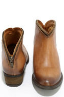 Very Volatile Sofia Tan Leather Ankle Booties 3