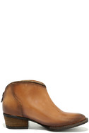 Very Volatile Sofia Tan Leather Ankle Booties 4