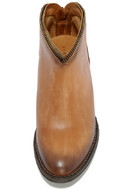 Very Volatile Sofia Tan Leather Ankle Booties 5