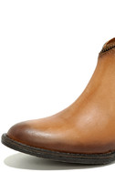 Very Volatile Sofia Tan Leather Ankle Booties 6