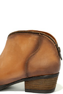Very Volatile Sofia Tan Leather Ankle Booties 7