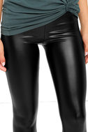 Rock Music Black Vegan Leather Leggings 5