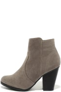 Aubrey Grey Suede Ankle Booties 2