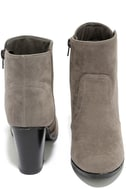 Aubrey Grey Suede Ankle Booties 3