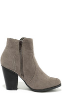 Aubrey Grey Suede Ankle Booties 4