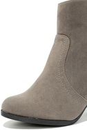 Aubrey Grey Suede Ankle Booties 6
