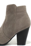 Aubrey Grey Suede Ankle Booties 7
