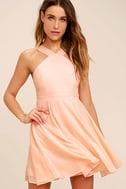 Forevermore Peach Skater Dress 1
