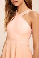 Forevermore Peach Skater Dress 5
