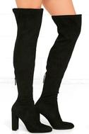 Steve Madden Emotions Black Suede Over the Knee Boots 4