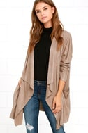 Dream Day Taupe Suede Jacket 1
