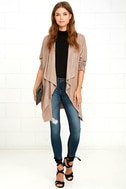 Dream Day Taupe Suede Jacket 2