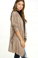 Dream Day Taupe Suede Jacket 3