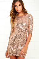Star Dust Gold Sequin Bodycon Dress 1