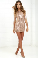 Star Dust Gold Sequin Bodycon Dress 3
