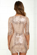 Star Dust Gold Sequin Bodycon Dress 5