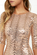 Star Dust Gold Sequin Bodycon Dress 6