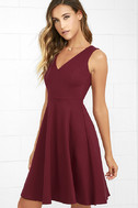 Hello World Wine Red Midi Dress 3