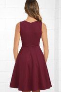 Hello World Wine Red Midi Dress 4