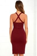 Gathering Glances Burgundy Bodycon Dress 5